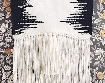 Woven Wall Art 'SOUND WAVES' / Tissage / Wall Decor / Hand Woven / Tapestry / Weaving