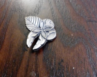 """Vintage Sterling silver pendent charm 1 1/4"""" x 1"""""""