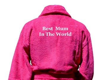 Women's Personalised Bathrobes For Mum Luxury Dressing Gowns Gifts Mother's Day Present