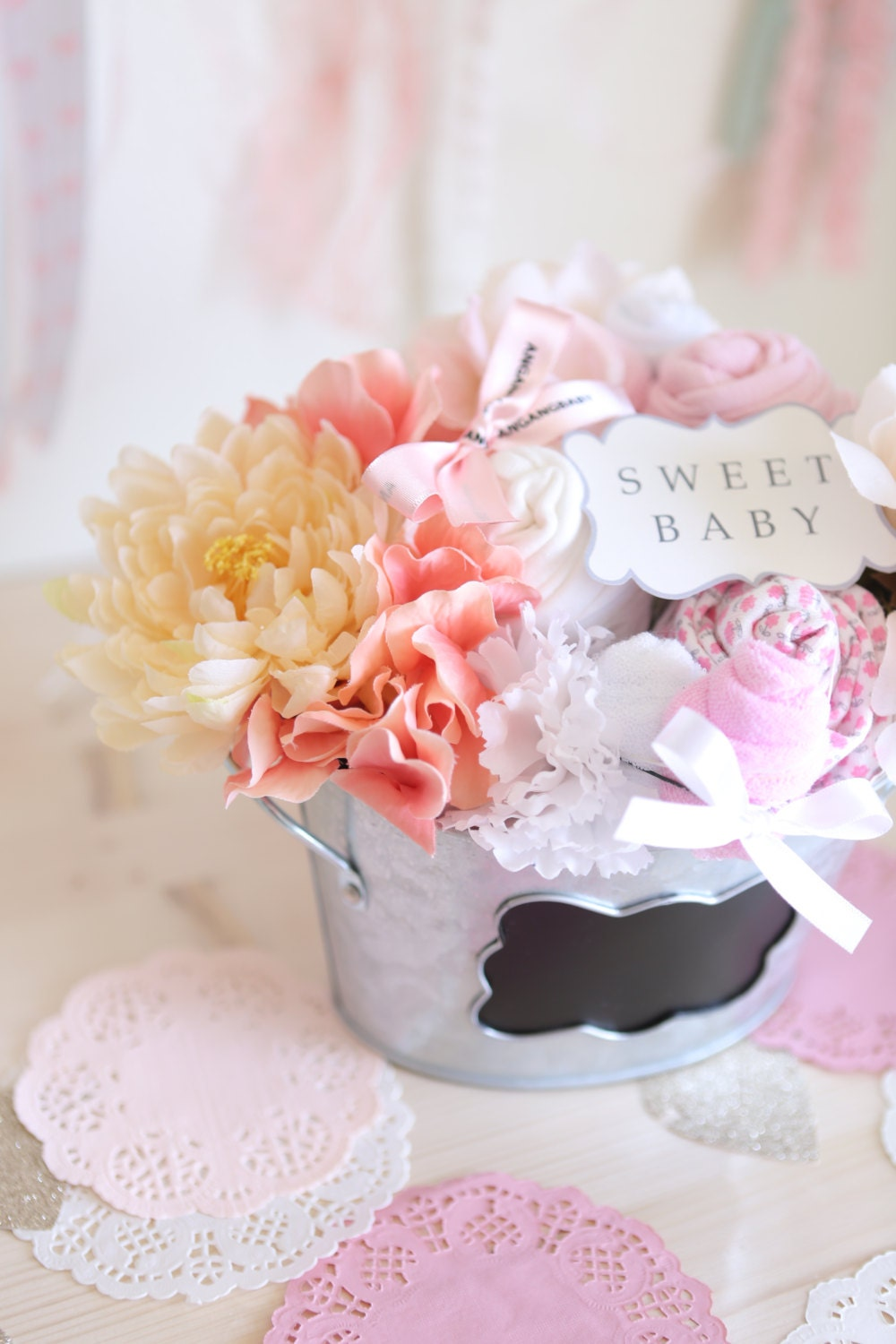 new mom gift basket baby shower gift for a baby girl 3