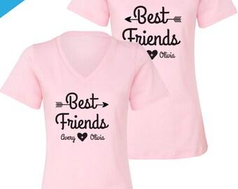 Matching Best Friend Shirts, BFF Set, Best Friends Shirts, Personalized Best Friend Gift