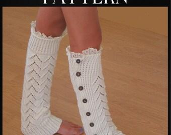 Knitting PATTERN - Leg Warmers - Instant Download
