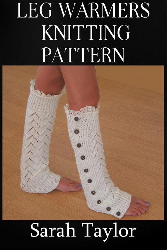 Knitting Pattern For Leg Warmers With Buttons : Knitting PATTERN Leg Warmers Instant Download