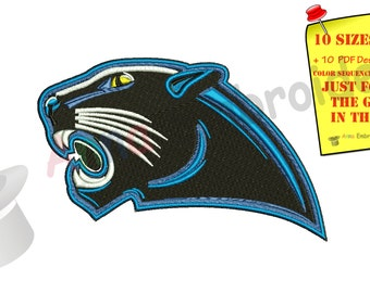 Panther head MachineEmbroidery Design-Panther face-machine patterns- 10 SIZES-INSTANT DOWNLOAD