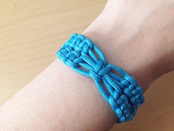 Paracord Bracelet Macrame Woven With 95 Paracord Ocean