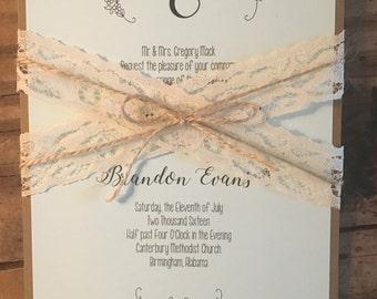 Simple Floral Wedding Invitation Suite