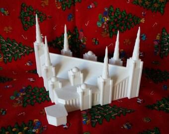 Portland Temple Statue - LDS Temple Statue - Mormon Temple - Centerpiece - Cake Topper