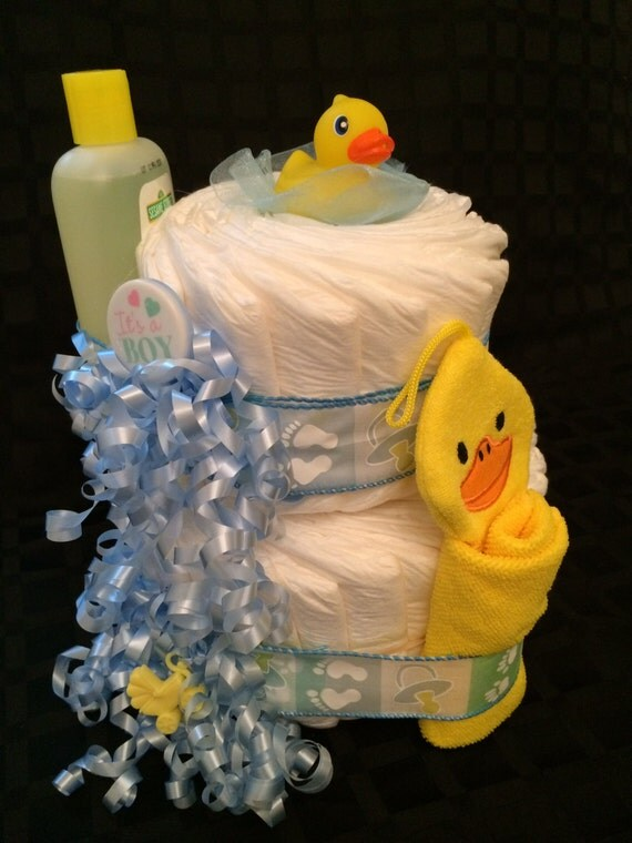 items similar to baby boy diaper cake bath time for baby baby shower decoration baby shower. Black Bedroom Furniture Sets. Home Design Ideas