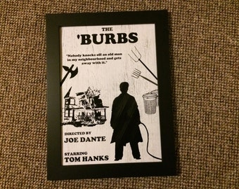 The Burbs Poster - Various Sizes - Minimalist - Tom Hanks - 80s Comedy