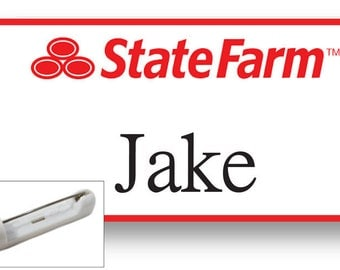 1 JAKE From State Farm Halloween Costume Name Badge Tag with a pin Fastener SHIPS FREE