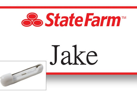 Adorable image inside jake from state farm name tag printable