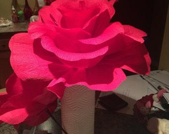 Large Rose with stem