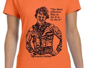 Amelia Earhart Quote Women's T-Shirt