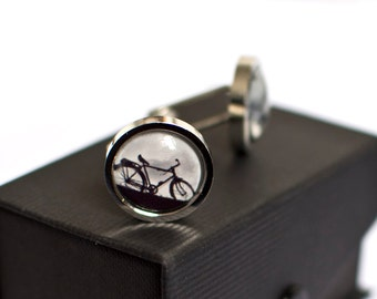 Bicycle Cufflinks, Bike Cufflinks, Cyclist Cufflinks, Sport Cufflinks, Cycling Gift, Cyclist Gift, Hipster Cufflinks, Groom Gift, Torpedo