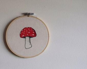 Toadstool Embroidery Hoop
