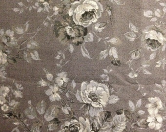 Gray Floral on Dark Gray Background, Evening Mist Shadow by Sentimental Studios, Moda Fabrics, 100% Cotton