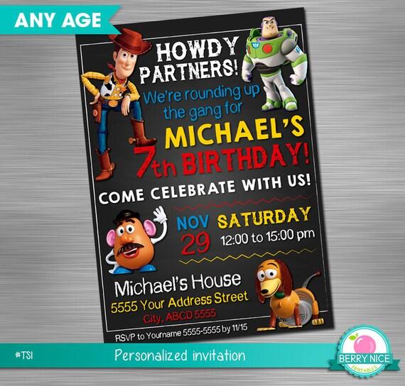 Toy Story Invitation DIY Printable
