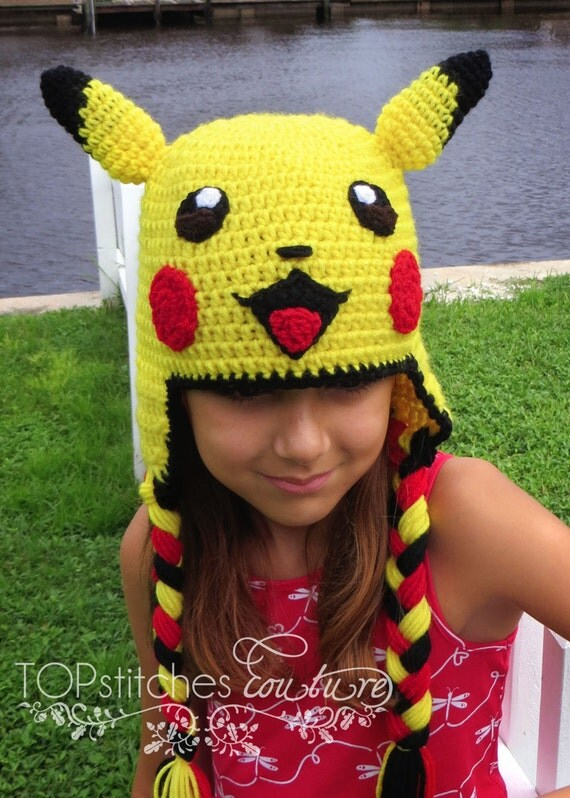 Pikachu Crochet Hat Pokemon Go Pokemon Hat Pikachu Cosplay