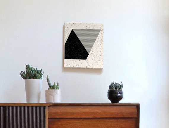 "PARALLELOGRAM 12""X14"" canvas wall art"