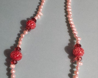 Pearl and Lampwork Necklace