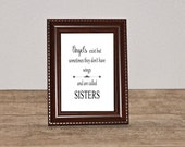 Sister Gift Print - Unique Gift For Sister - Special Gift For Sister - Friendship Sister Poem - Sister Verse-Instant Download, 8x10 poster