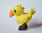 Choco Birdie crochet PATTERN  by Krawka, ff, video game, moogle featured image