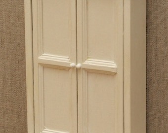 1:12 Scale Dolls House Wardrobe / Kitchen cupboard - Choice of 15 colours painted to order