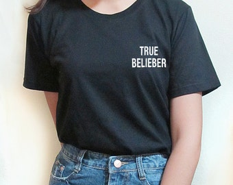 Justin Bieber Black White T-shirt Tumblr Shirt Graphic T Shirts Girl Tee  funny tee funny tshirt graphic tee