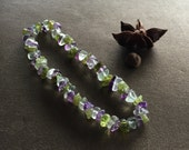 Amethyst Peridot and Flourite Bracelet.