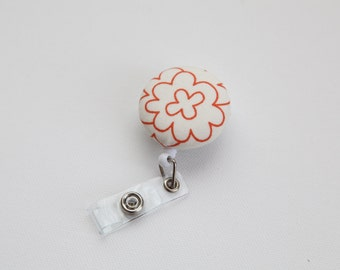 Mod Flower Retractable ID Badge Reel - FREE SHIPPING with another purchase - Name Badge, Tag, Nurse , Teacher Badge Holder