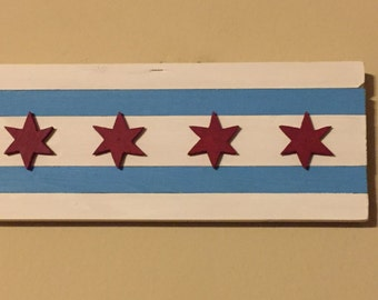 Chicago Flag - wood