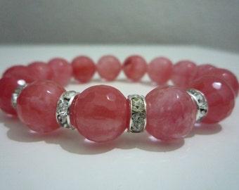 Watermelon Tourmaline,Bracelet gemstone,Women bracelet,Tourmaline,Natural gemstone