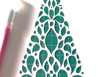 Christmas Tree DIY Papercut Template