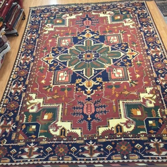 "8'8"" x 11'9"" Pakistani Heriz Design Oriental Rug - Hand Made - Very Fine  - 100% Wool"
