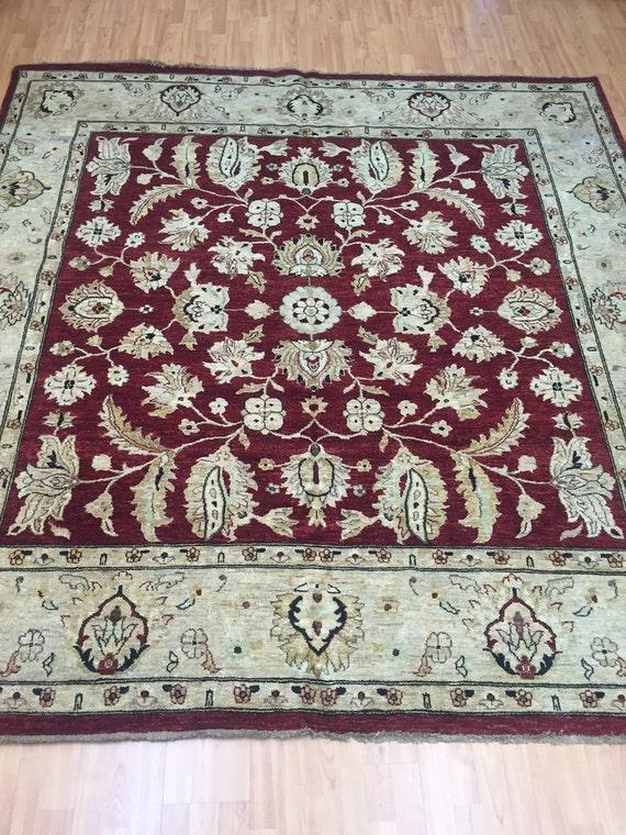 """8' x 8'4"""" Pakistani Peshawar Oriental Rug - Square - Hand Made - Vegetable Dye - 100% Wool"""