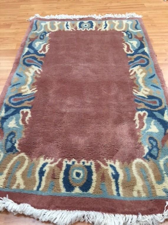 "2'6"" x 4' Persian Kerman Oriental Rug - Hand Made - 100% Wool - Modern"