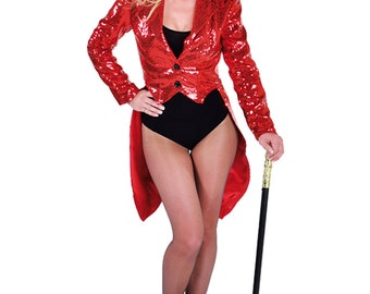 Deluxe Red Sequinned Cabaret Tailcoat