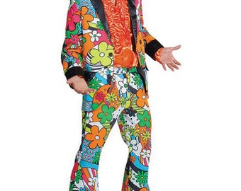 Bold Flower Pimp Suit - 60's / 70's theme