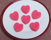 6 Pack Highly Scented RED VELVET CAKE Hearts Wax Tart Melts Primitive Bowl Fillers (B-2)