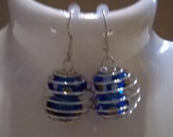 spiral earrings silver,