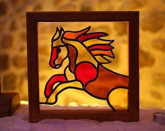 Stained glass pony