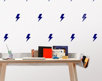 Lightning bolts Decal / Storm Decal / Thunder decal / 35 or 70 Lightning Pattern Wall Decal / Kids Room Decal / Nursery decal / Home Decor