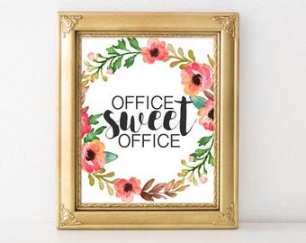 Work Printable Art, Office suite office printable wall art, office art, work decor, gallery wall, office poster cubicle decor cubicle art