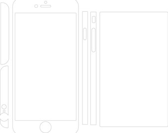 Iphone 6 Plus Skin template for cutting or machining - Digital Download