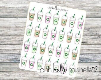 Frappuccino Stickers FN-016    28 Planner Stickers