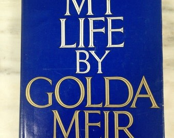 vintage My Life by Golda Meir, First America Edition, 1975 hardback and dustcover, Israel biography,