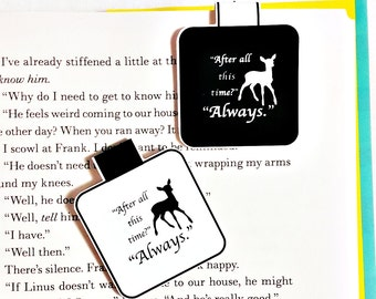 Always magnetic bookmark - Harry Potter magnetic bookmark - fandom magnetic bookmark - After all this time? Always.