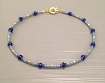 tiny beaded bracelet delicate bracelet layering bracelet ombre bracelet