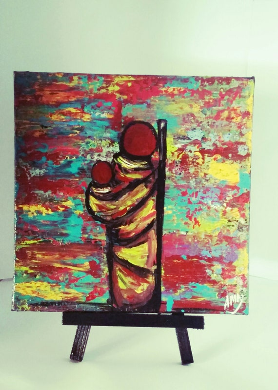 Mini abstract acrylic paintinghome decor