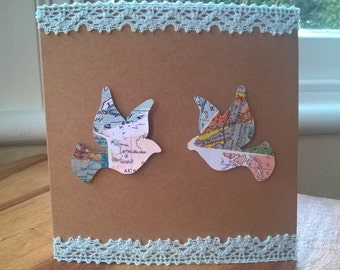 Map Dove Engagement card